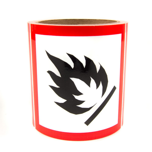 """GHS Labels - Flammable 4"""""""
