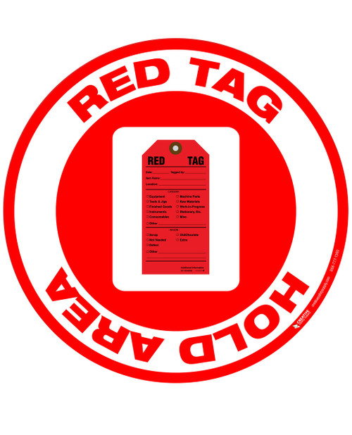 Floor Sign - Red Tag Hold Area