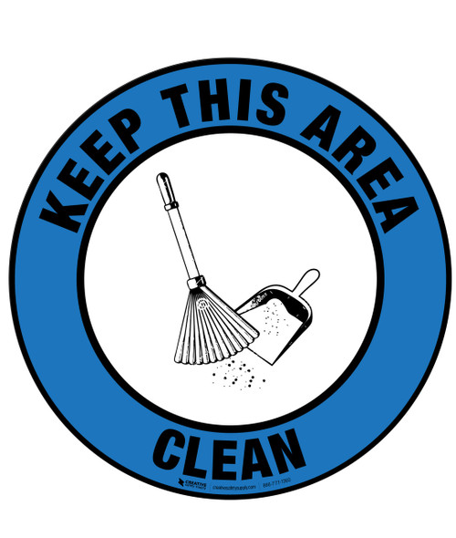 Floor Sign - Keep Area Clean