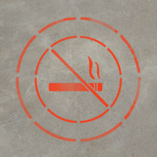 No Smoking - Stencil