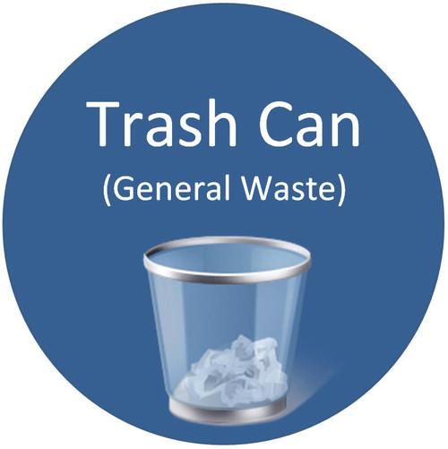 Floor Sign - Trash Can (General Waste)