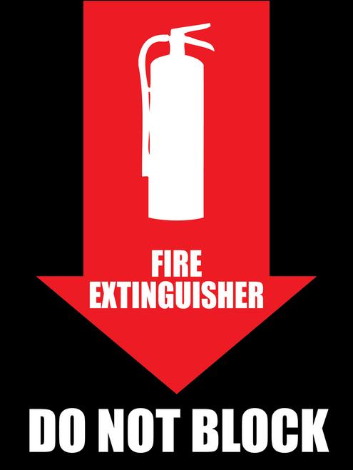Fire Extinguisher Do Not Block