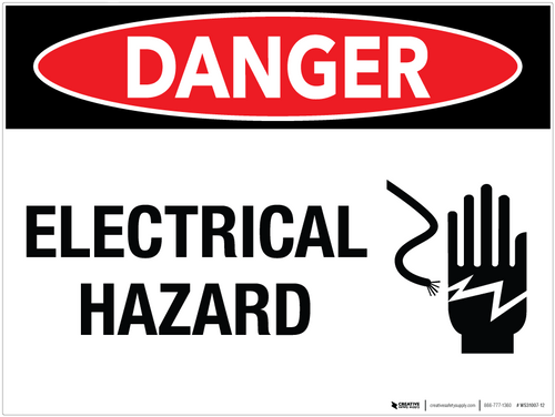 Danger: Electrical Hazard Wall Sign - Wall Sign