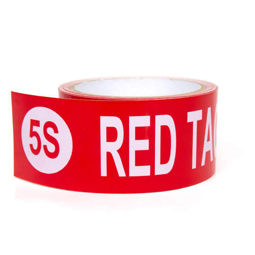 5S Red Tag Holding Area Pre-Printed Floor Tape