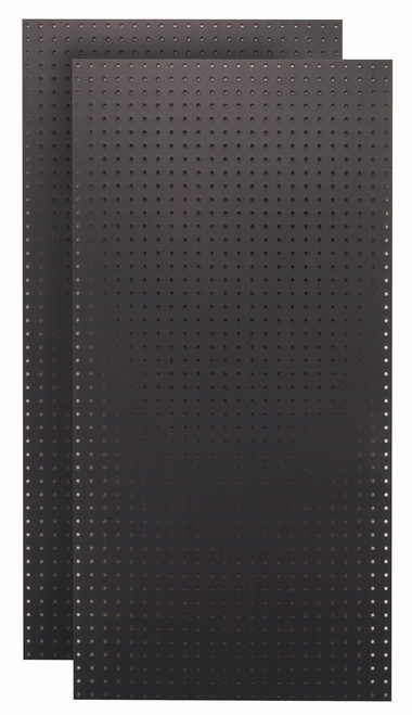 Black Tempered Pegboards - (2) - 24x48x1/4