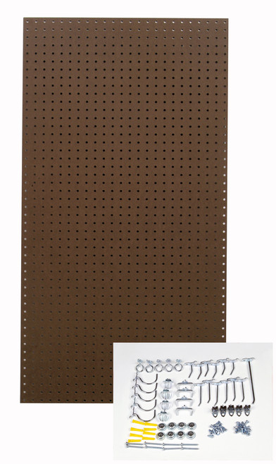 Brown Tempered Board - 24x48x1/4 - 36 Hooks