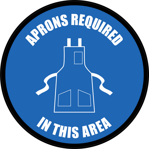 Aprons Required In This Area Floor Sign