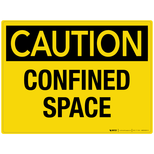 Caution: Confined Space - Wall Sign