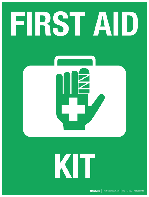 First Aid Kit - Wall Sign