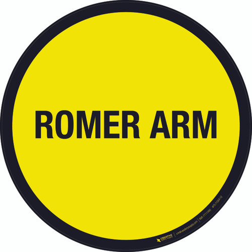 Romer Arm Floor Sign