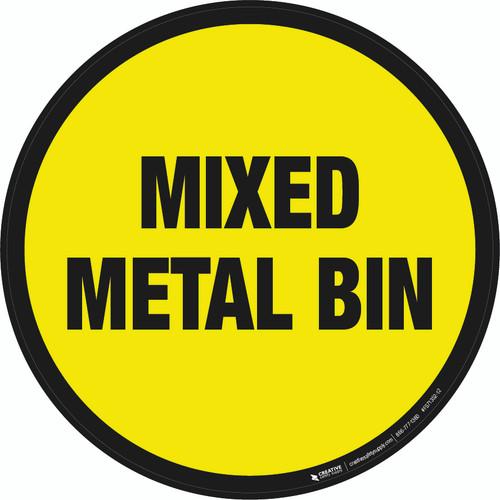 Mixed Metal Bin Floor Sign