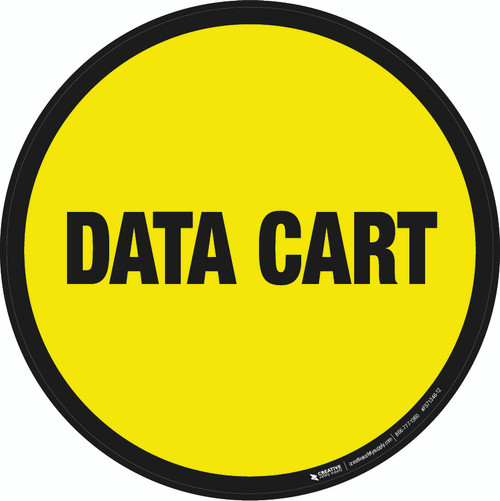 Data Cart Floor Sign