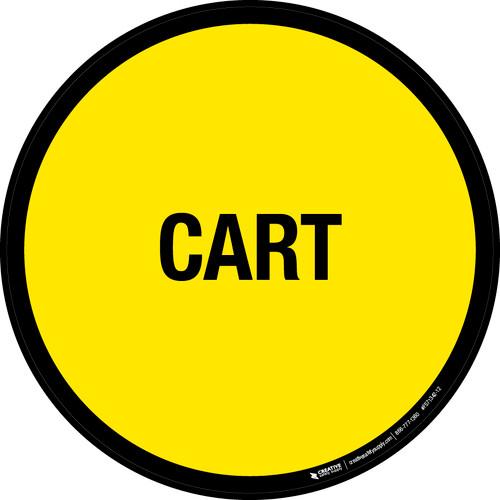 Cart Floor Sign