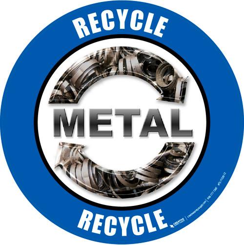 Recycle Metal Real Floor Sign