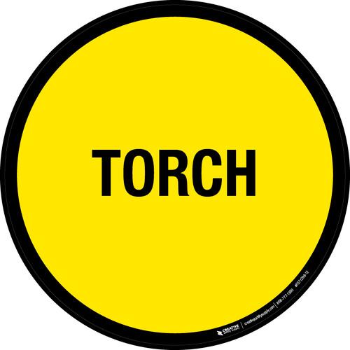 Torch Floor Sign