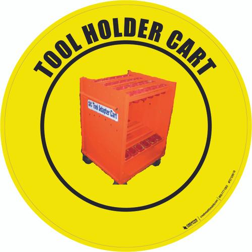 Tool Holder Cart Floor Sign
