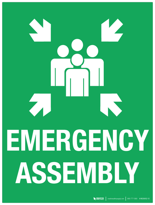 Emergency Assembly - Wall Sign