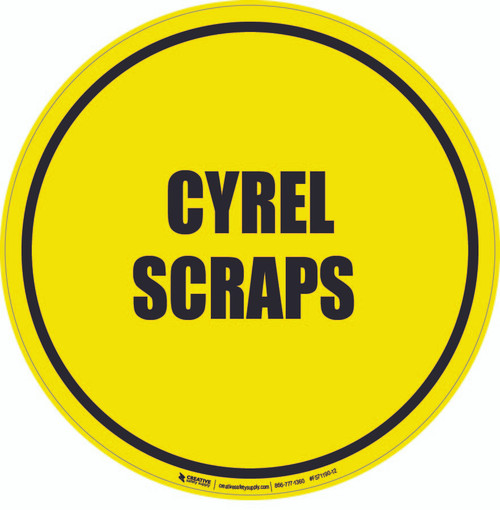 Cyrel Scraps Floor Sign