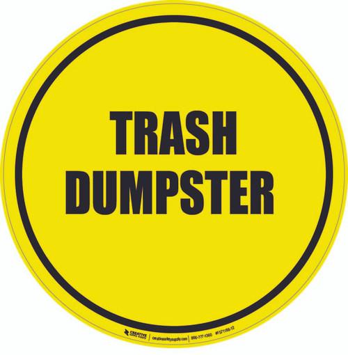 Trash Dumpster Floor Sign