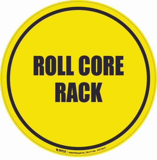 Roll Core Rack Floor Sign