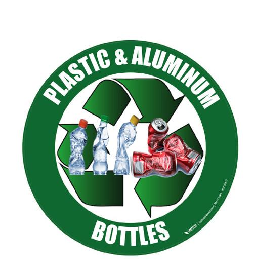 Recycle (Plastic & Aluminum Bottles) Floor Sign