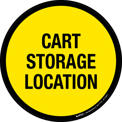 Cart Storage Location Floor Sign