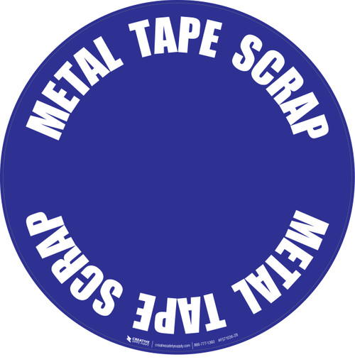 Metal Tape Scrap Floor Sign