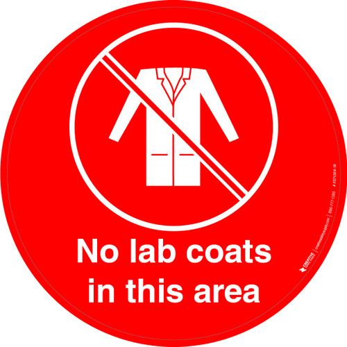 No Lab Coats in This Area Floor Sign