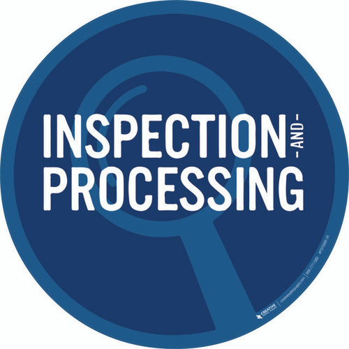 Inspection Processing Floor Sign