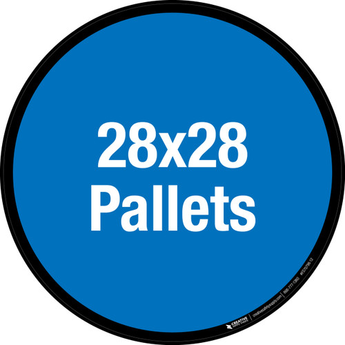 28x28 Pallets Floor Sign