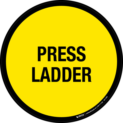 Press Ladder Floor Sign
