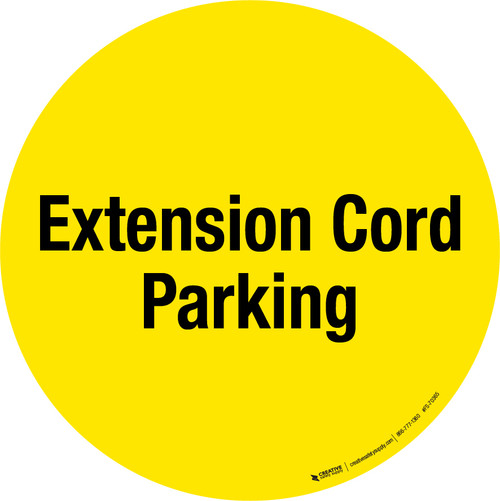 Extension Cord Parking Floor Sign