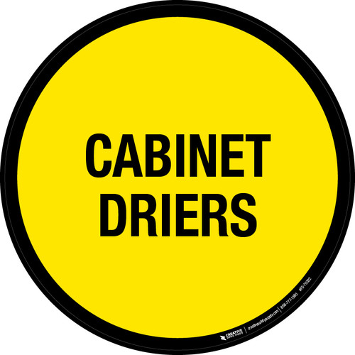 Cabinet Driers Floor Sign