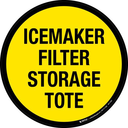 Icemaker Filter Storage Tote Floor Sign