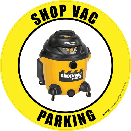 Shop Vac Parking (Real) Floor Sign