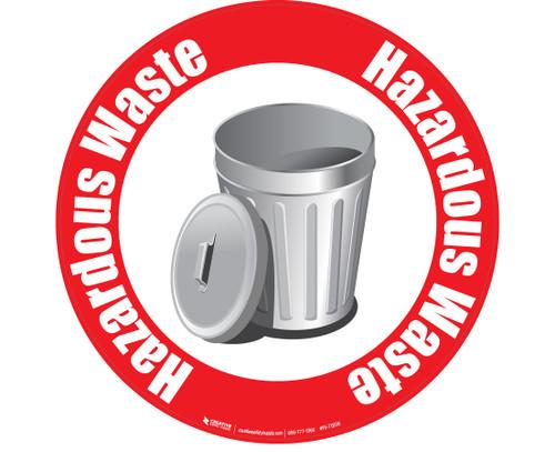 Hazardous Waste Floor Sign