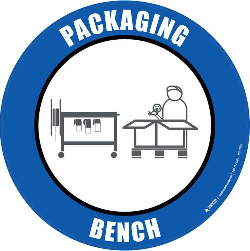 Packaging Bench Floor Sign