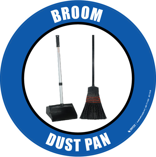 Broom Dust Pan (Real) Floor Sign