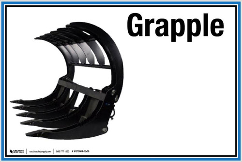 """Wall Sign: (UR) Grapple - 12""""x18"""" (Peel-and-Stick Permanent Adhesive)"""