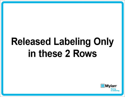 "Wall Sign: (Mylan Logo) Released Labeling Only in These 2 Rows 11""x14"" (Mounted on 3mm PVC)"