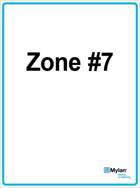 "Wall Sign: (Mylan Logo) Zone #7 15""x20"" (Mounted on 3mm PVC) Double Sided"