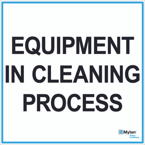"""Wall Sign: (Mylan Logo) Equipment In Cleaning Process 20""""x20"""" (Mounted on 3mm PVC)"""
