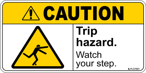 Caution - Trip Hazard label