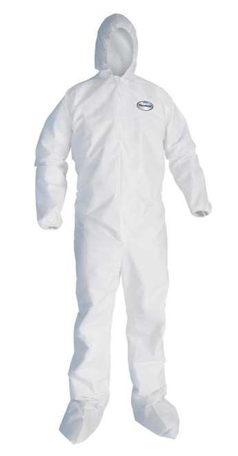 KleenGuard A10 Light Duty Coverall with hood and boots