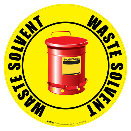 Floor Sign - Solvent Waste