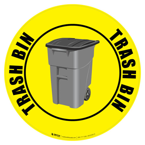 Trash Bin Floor Sign