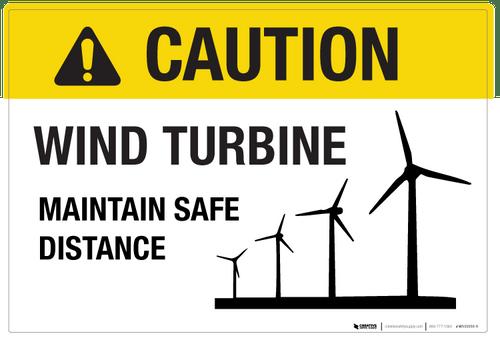 Caution - Wind Turbine - Wall Sign