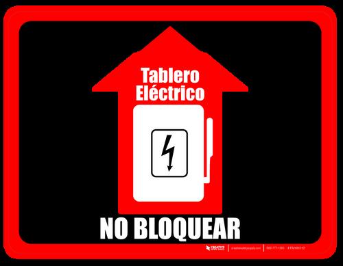 Tablero eléctrico - No Bloquear (Electrical Panel - Do Not Block) Floor Sign (Rectangle)