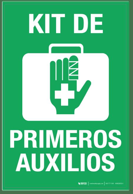 Kit de Primeros Auxiios (First Aid Kit) - Wall Sign