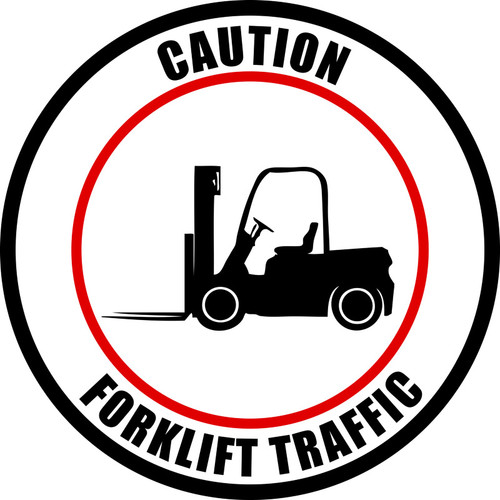 Caution Forklift Traffic - Industrial Floor Sign